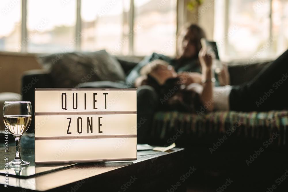 Fototapeta Quiet zone inside a home