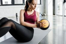 Focused Fit Sportswoman Workin...