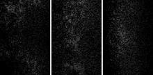White Grainy Texture Isolated On Black Background.White Grainy Texture Isolated On Black Background. Damaged Textured. Snow Design Elements. Set Vector Illustration,eps 10.