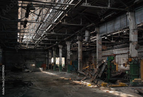 Hangar in the old abandoned car factory.