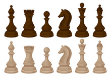 Flat Vecror Set Of Chess Piece...
