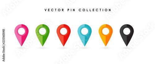 Fototapeta Location pin. Map pin flat icon vector design. obraz