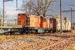 Eisenbahn mit Wagon