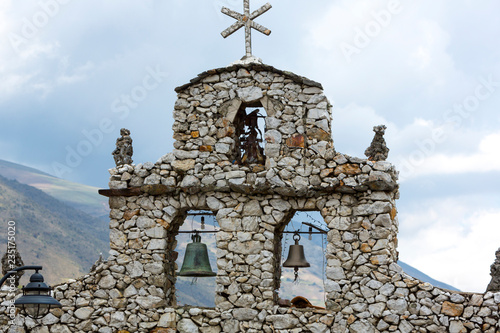 Spoed Foto op Canvas Zuid-Amerika land Stone church in San Rafael, Merida State, Venezuela