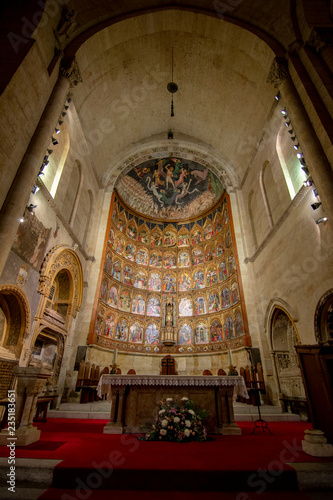 Altarpiece in the old Cathedral of Salamanca. Spain. Poster Mural XXL