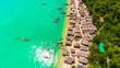 Leinwanddruck Bild - Aerial view, Mogan Village on Mu Ko Surin Island Nation park, Thailand