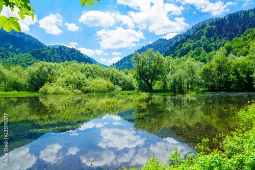 Foto auf Leinwand Lime grun View of Lake Biograd
