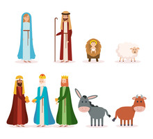 Group Of Manger Characters