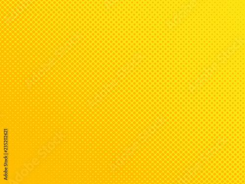 Fotografie, Obraz  Comic book orange background, halftone dots texture