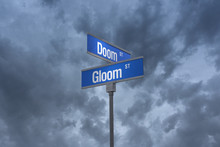 3D Illustration Of A Street Sign_doom And Gloom Streets