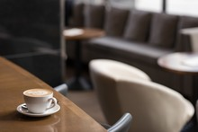 Coffee Cup On Table In Hotel