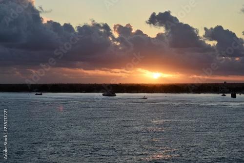 Ocean sunset, sea,sun,water,sky