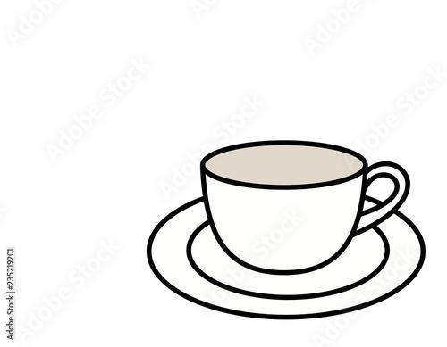 ティーカップとソーサー(色)