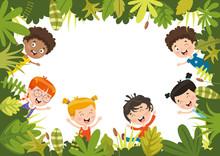 Vector Illustration Of Kids Nature
