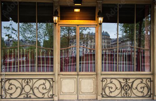 Bistro Café Paris reflection Canvas Print