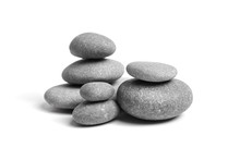 Group Of Smooth Grey Stones. S...