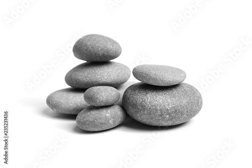 Cuadros en Lienzo Group of smooth grey stones
