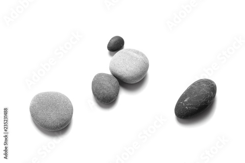 Fotomural Scattered sea pebbles