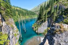 Kaindy Lake In South East Kazakhstan, Taken In August 2018taken In Hdr Taken In Hdr