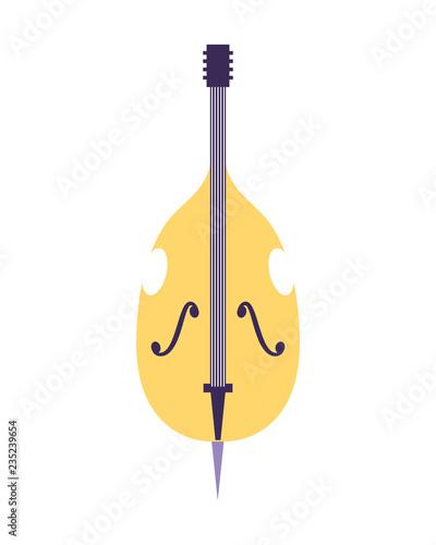 Fotografía cello musical instrument on white background