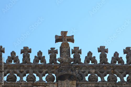 Photo  Templar Crosses at Castelo de Tomar in Portugal 3