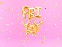 FriYay Text Sign Letters With ...