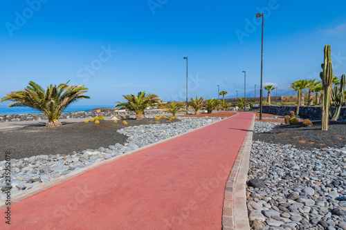 Deurstickers Canarische Eilanden Embankment in the small village of Alcala. Tenerife. Canary Islands..Spain