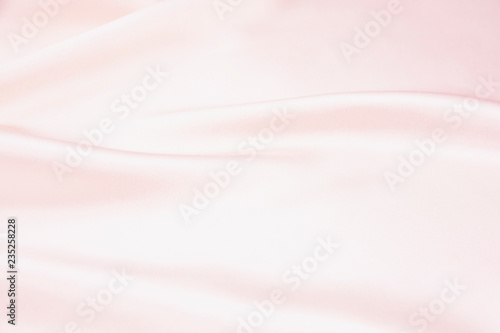Fotobehang Fractal waves The texture of the satin fabric of pink color for the background