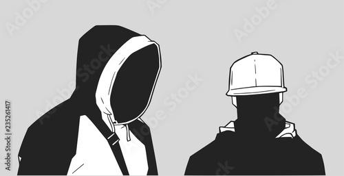 Wallpaper Mural Illustration of young London gang members