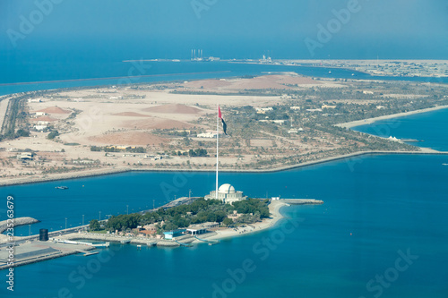 Abu Dhabi island aerial view, travel destination