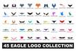 45 eagle logo collection
