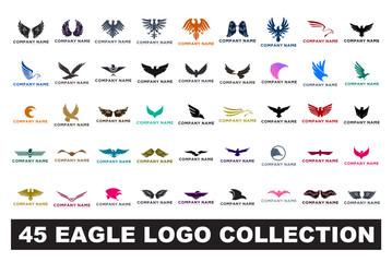 45 kolekcija logotipa orao