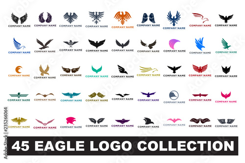 Obraz na płótnie 45 eagle logo collection