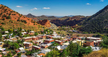Panorama Of Bisbee And Mule Mo...