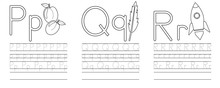 Writing Practice Of Letters P,...