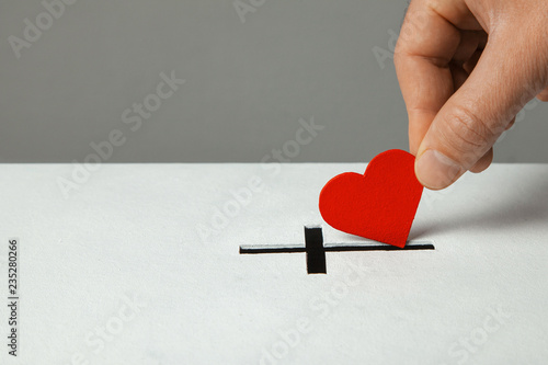 Photo Donation of your heart as symbol of love for the religion of Christianity