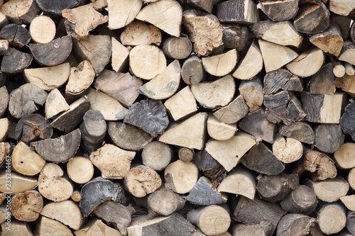 Stack of firewood as background/texture