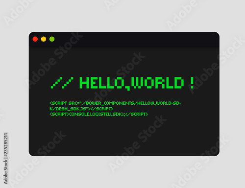 Fotografia, Obraz Hello world code illustration