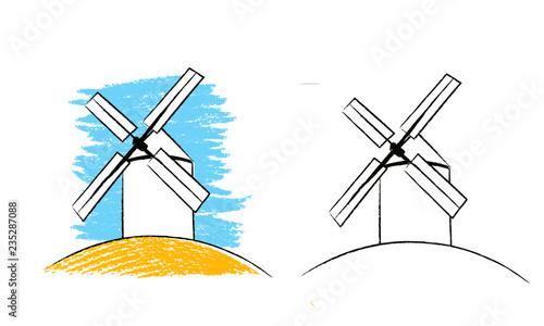 windmill, wind, mill, energy, turbine, sky, power, old