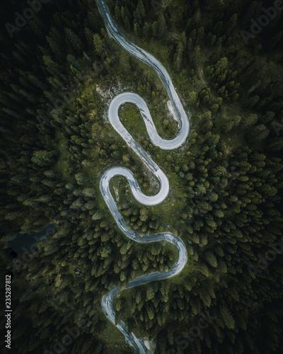 Fotografie, Obraz  Droga alpejska