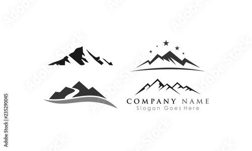 Fototapeta template set mountain vector obraz