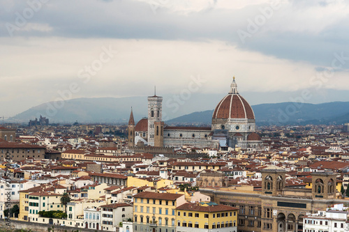 View of the city from Piazza Michelangelo in Florence.