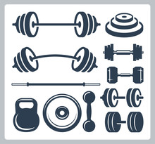 Set Of Sport Weights For Bodyb...