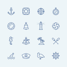 Nautical Vector Icon Set
