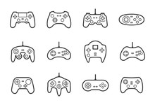 Gamepads Vector Icon Set In Th...