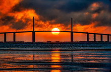 Ball Of Fire At Skyway Bridge