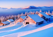 Abandoned Cabins In Snowdrift