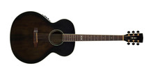 Musical Instrument - Top View Brown Acoustic Guitar. Isolated