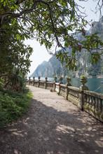 Walking Along The Riverside Of...