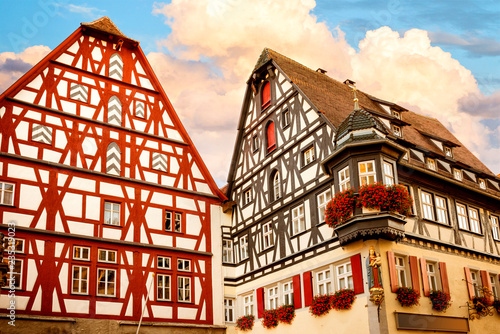 Pinturas sobre lienzo  Rothenburg ob der Tauber is one of the most beautiful and romantic villages in Europe, Franconia region of Bavaria, Germany